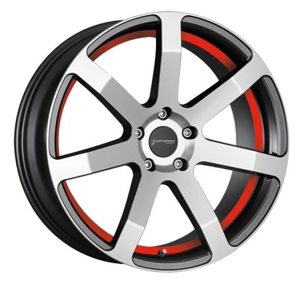 CORSPEED CHALLENGE Higloss-Gunmetal-polished / undercut Color Trim rot 8.5x19 5x112 Lochkreis
