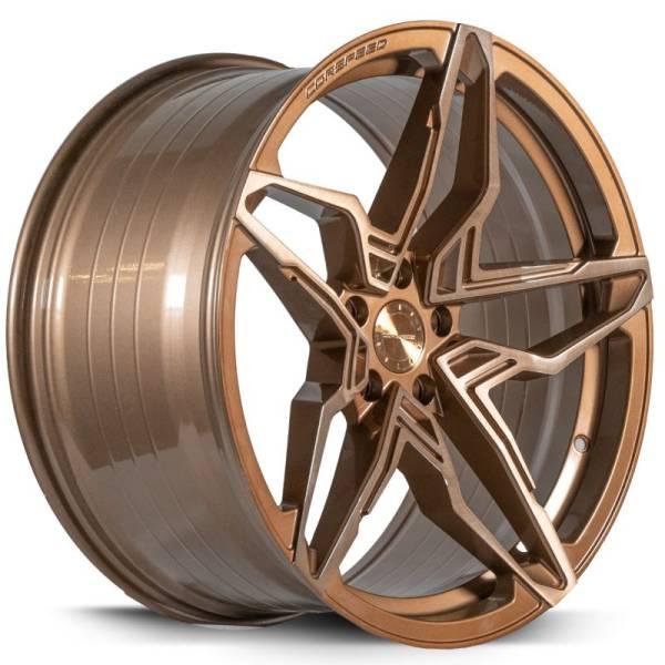 Corspeed Kharma 9x20 ET30 5x120 Higloss-Bronze brushed Surface