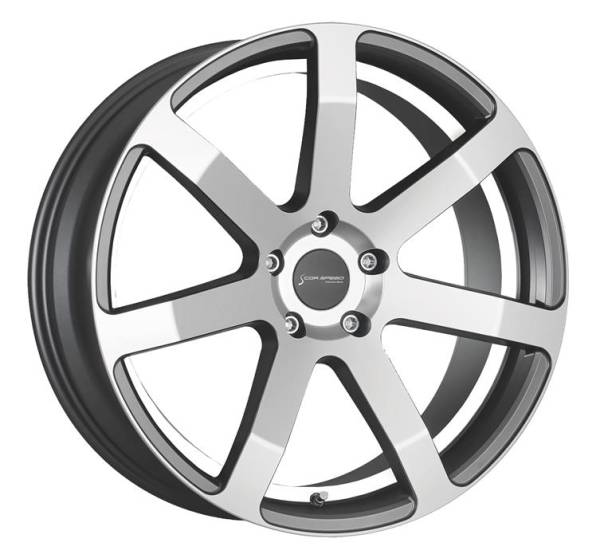 CORSPEED CHALLENGE Higloss-Gunmetal-polished / undercut Color Trim weiss 8.5x19 5x112 Lochkreis