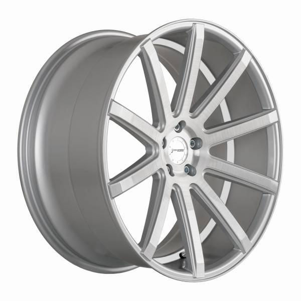 CORSPEED DEVILLE Silver-brushed-Surface/ undercut Color Trim weiß 9,5x19 5x112 Lochkreis