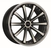 CORSPEED ARROWS Higloss black polished inox lip 8x18 5x120 Lochkreis